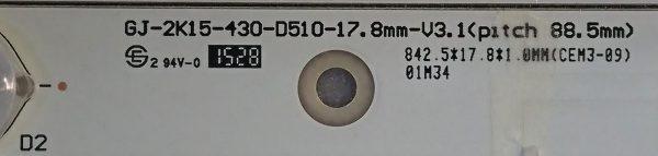GJ-2K15-430-D510-17.8mm