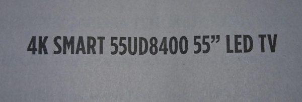 4K SMART 55UD8400 55 LED TV AYAK