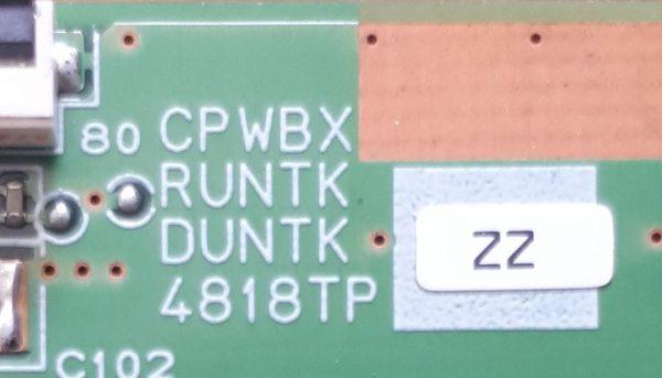 CPWBX RUNTK DUNTK 4818TP ZZ M