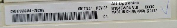 AU OPTRONİCS B154EW04 V.B XXXXG CM7470632494-ZS0302 ETİKET