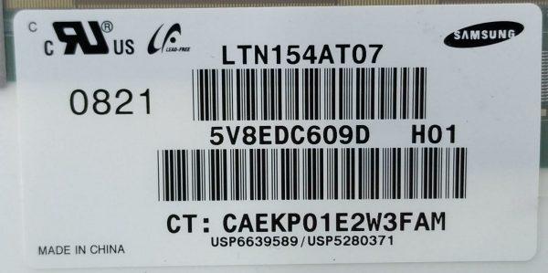 SAMSUNG LTN154AT07 5V8EDC609D H01 CT CAEKP01E2W3FAM ETİKET